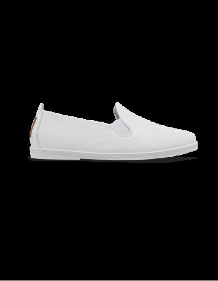 Madrid White leather