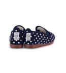 Gallur Navy polka dot